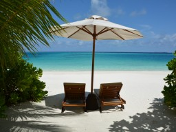 Fantastic beach location - Each access of the beach bungalows offers a private area for perfect relaxing.