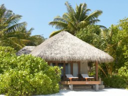Deluxe Beach Villa - Exterior of a beach villa with lots of privacy.