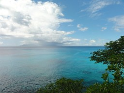 Ocean view - View to the island of Silhouette with the Hilton Labritz Resort