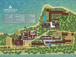 Anantara Kalutara Resort - Overview layout of the whole resort