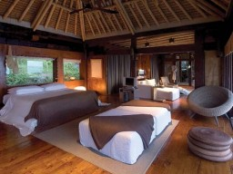 Presidential Villa - Interior of the Presidential Villa with natural materials and a very exquisite design.