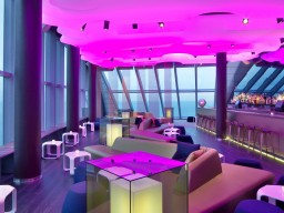Lounge Club Eclipse  - In the 26th floor of the hotel, the trendy location offers the perfect place for long party nights.