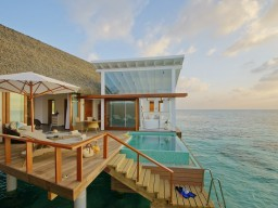 Ocean Villa - View of an Ocean Villa with lots of privacy and direct access to the ocean.