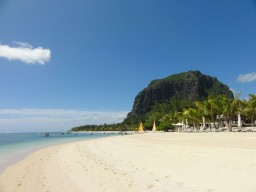 Beach life at its best - Dream beach with a view to the Le Morne rock.