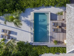 Beach Pool Villa - Bird view on one of the nature-embedded beach pool villas.