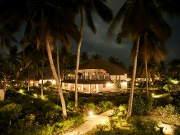 BREEZES Beach Club & Spa - Romantic evening atmosphere at the hotel.
