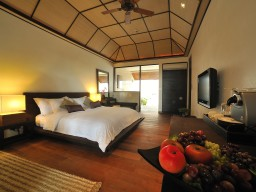 Beach Villa living example - The luxurious garden villas offer everything you need for a restful and relaxing stay.