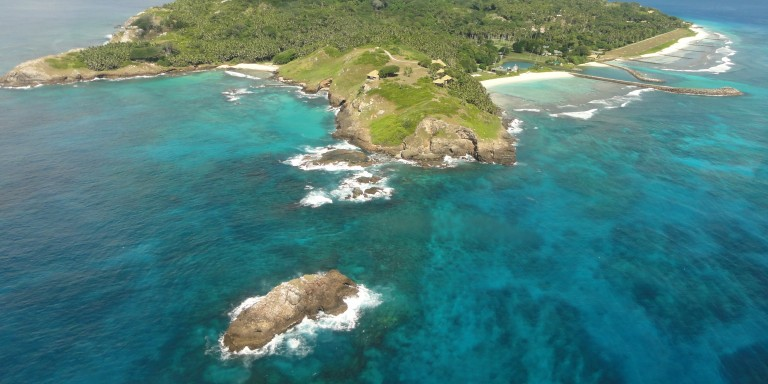 View on Fregate Island - View of the island, which guarantees beautiful holiday experience at the highest level.