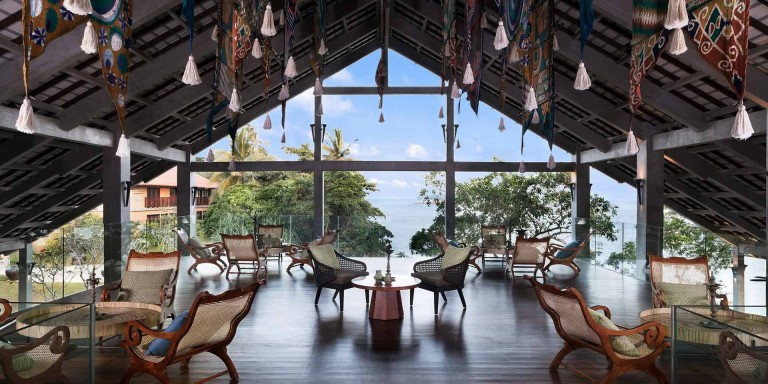 Anantara Kalutara Resort - Uper deck of the reception hall