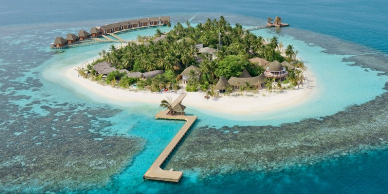 Kandolhu Island Resort - View of the gorgeous island surrounded by crystal clear water.