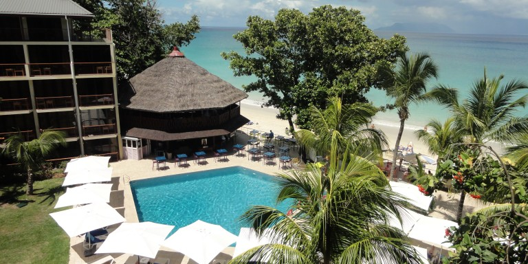 Hotel areal - View over the pool area of the Coral beach hotel