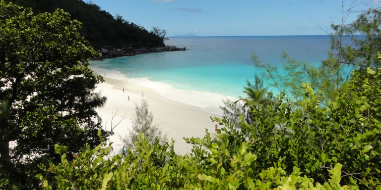 Anse Georgette - Crystal clear water + beautiful views = Absolute recovery